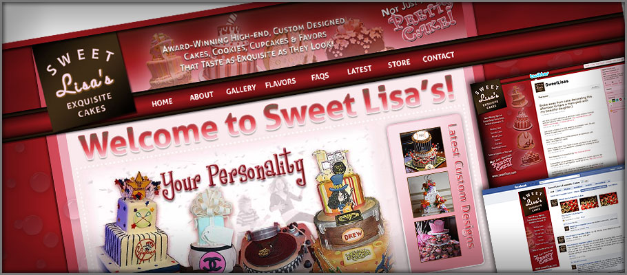 Sweet Lisa's Exquisite Cakes Web Redesign